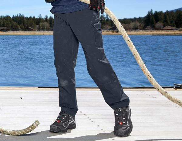 Trousers: Funct.cargo trousers e.s.dynashield solid,child. + pacific