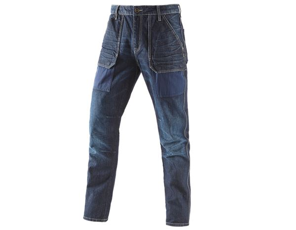 Jeans: e.s. 7-pocket jeans POWERdenim + darkwashed