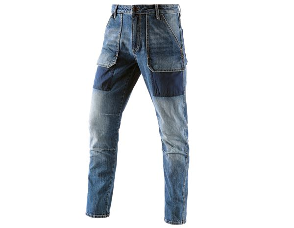 Jeans: e.s. 7-pocket jeans POWERdenim + stonewashed