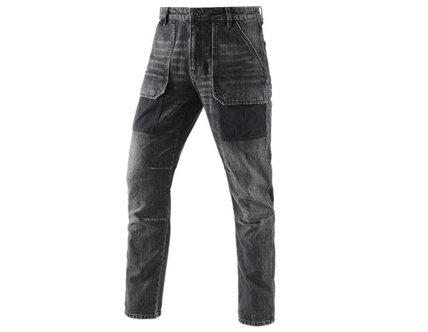 Jeans: e.s. 7-pocket jeans POWERdenim + blackwashed