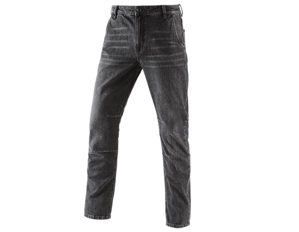 Jeanshosen: e.s. 5-Pocket-Jeans POWERdenim + blackwashed