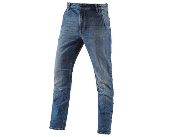 Jeans: e.s. 5-pocket jeans POWERdenim + stonewashed