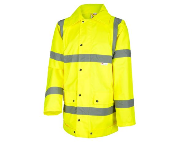 High-Vis Jackets: STONEKIT High-vis rain jacket + high-vis yellow