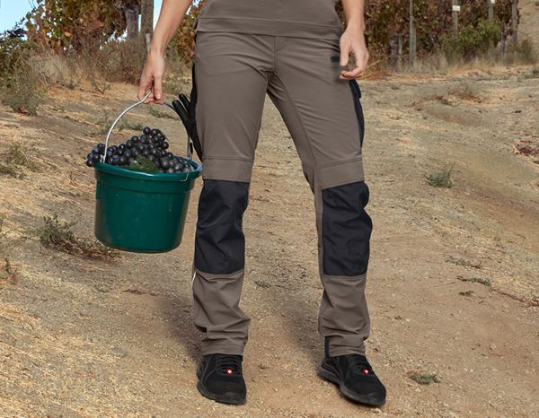 Work Trousers: Functional trousers e.s.dynashield, ladies' + stone/black