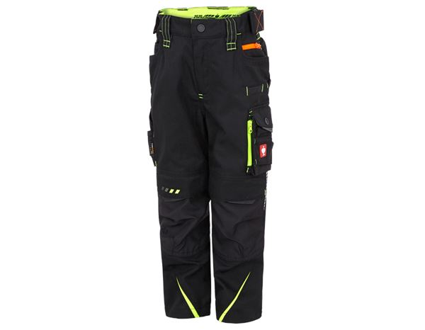 Trousers / Shorts: Trousers e.s.motion 2020, children's + black/high-vis yellow/high-vis orange
