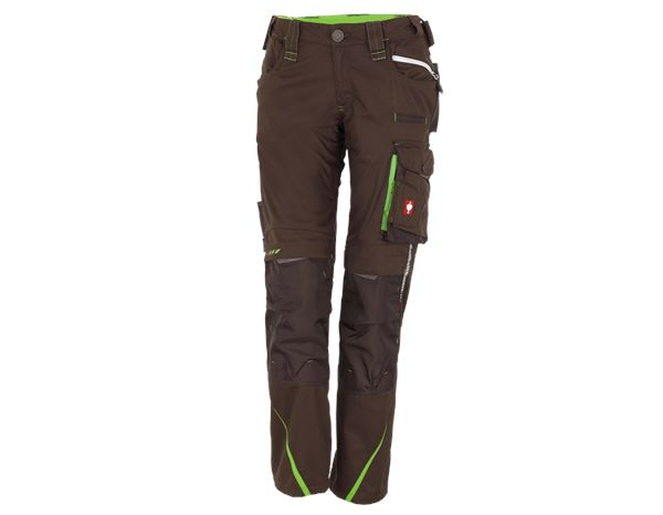 Work Trousers: Ladies' trousers e.s.motion 2020 + chestnut/seagreen