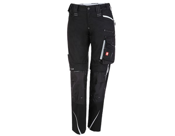 Work Trousers: Ladies' trousers e.s.motion 2020 + black/platinum