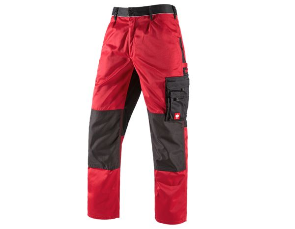 Work Trousers: Trousers e.s.image + red/black