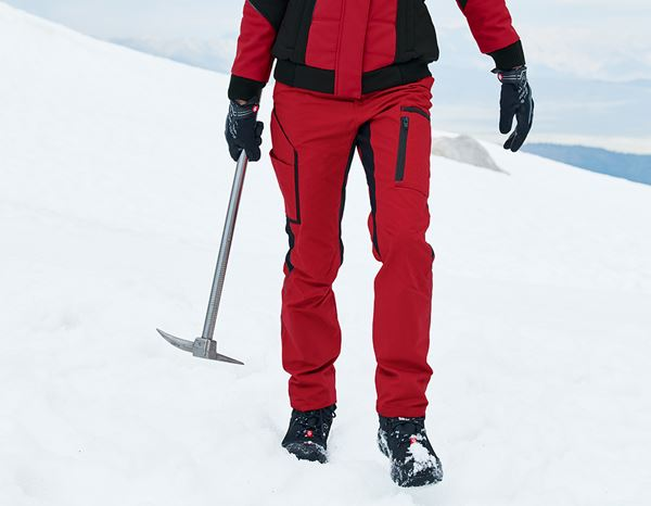Work Trousers: Winter ladies' trousers e.s.vision + red/black
