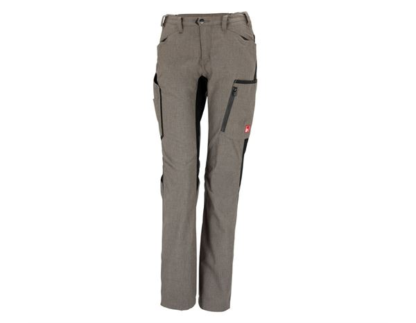Work Trousers: Winter ladies' trousers e.s.vision + stone melange/black