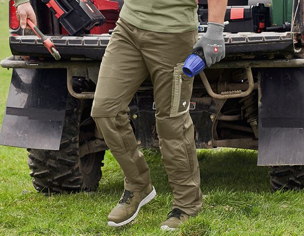 Work Trousers: Trousers e.s.concrete light + mudgreen/stipagreen