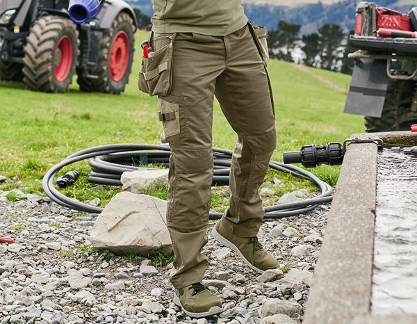 Work Trousers: Trousers e.s.concrete light + mudgreen/stipagreen 1