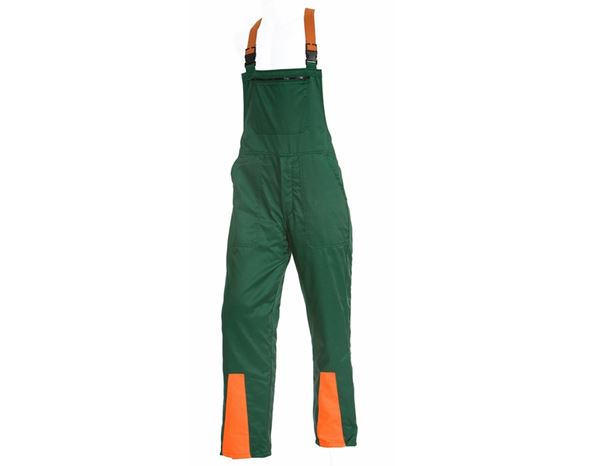 Chainsaw Trousers: Foresters Bib & Brace  + green/orange
