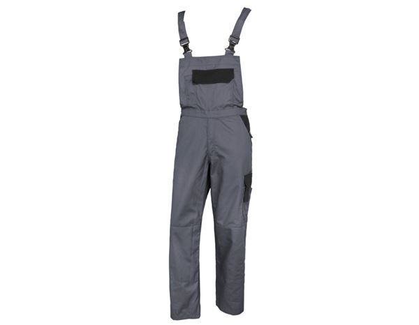 Work Trousers: STONEKIT Bib & Brace Odense + grey/black
