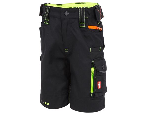 Trousers / Shorts: Shorts e.s.motion 2020, children's + black/high-vis yellow/high-vis orange