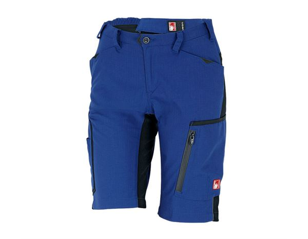 Work Trousers: Shorts e.s.vision, ladies' + royal/black