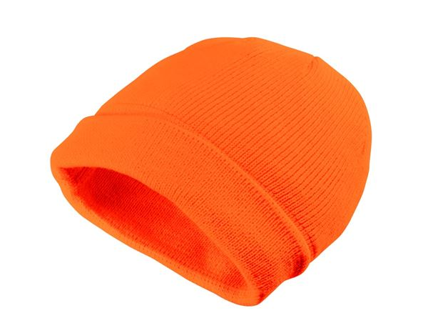 Caps / Mützen: Winter-Strickmütze Neon + orange
