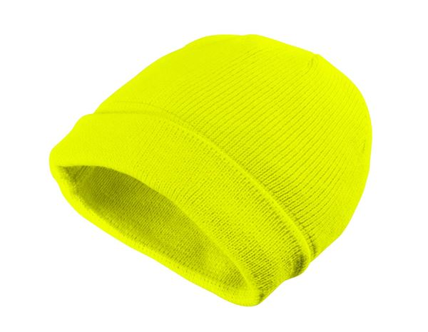 Accessories: Winter knitted cap Neon + yellow