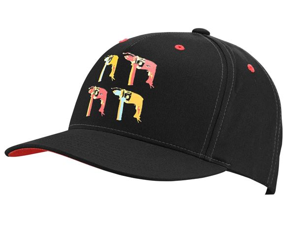 Accessories: e.s. Cap Pop Art + black/lightred/lightorange