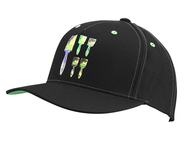 Accessories: e.s. Cap Pop Art + black/victoriagreen/cyan