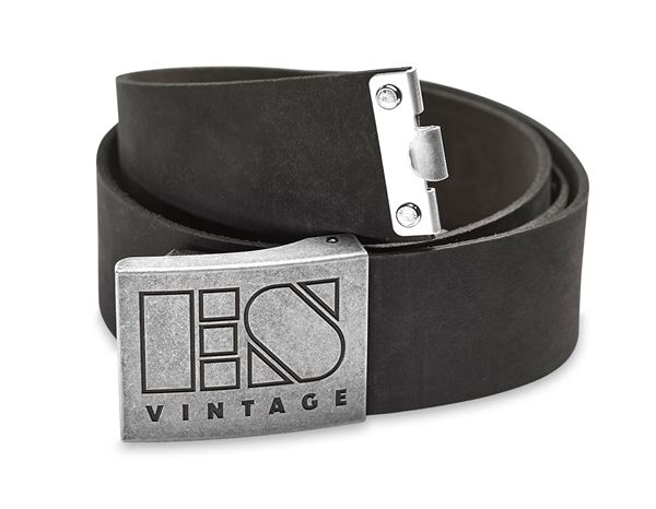 Accessories: Leather buckle belt e.s.vintage + black