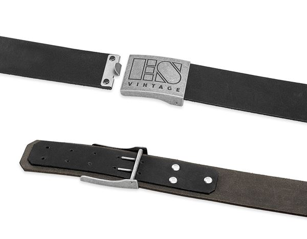 Accessories: Leather buckle belt e.s.vintage + black 1