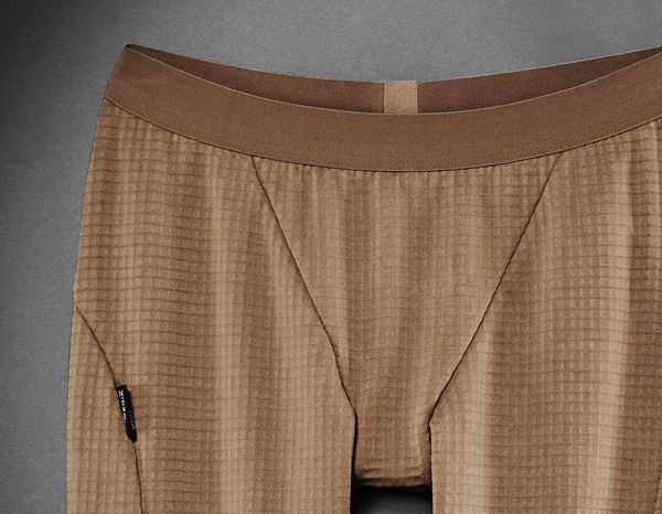 Damen: Stunt'n'Media Waffle Fleece Underwear Pants,Ladies + camel