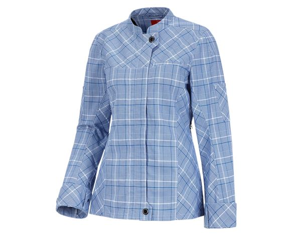 Shirts, Pullover & more: Work jacket long sleeved e.s.fusion, ladies' + blue/white