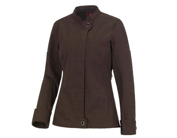 Shirts, Pullover & more: Work jacket long sleeved e.s.fusion, ladies' + chestnut