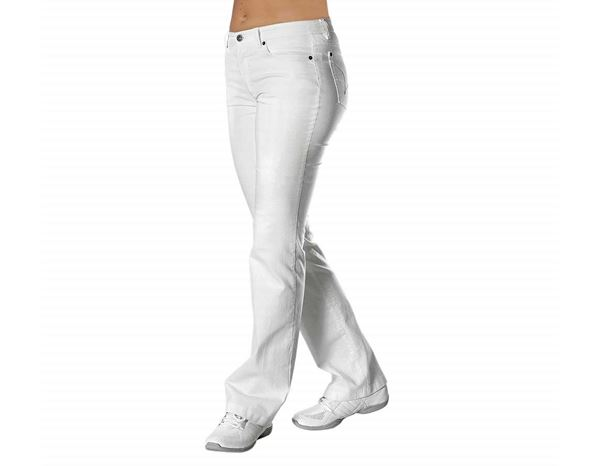 Medical / Healthcare Trousers: Ladies' Jeans Caroline + white