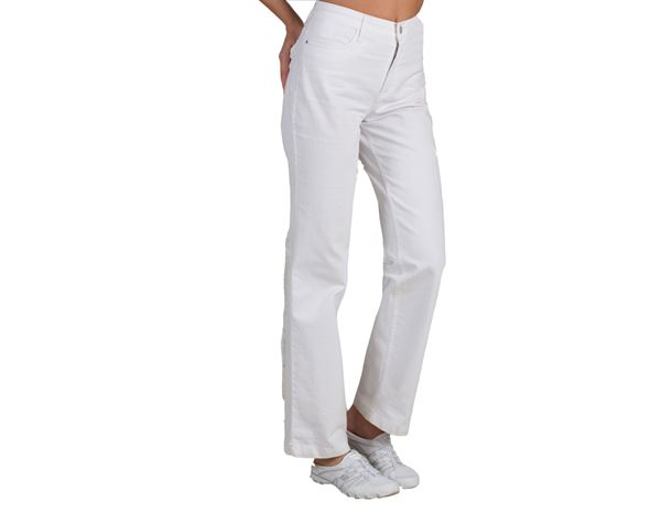 Work Trousers: Ladies' trousers Liana + white