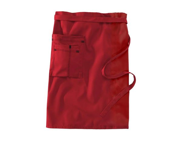 Catering Aprons: Mid-Length Apron + red/black