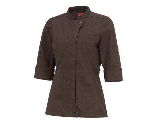 Shirts & Co.: Berufsjacke 3/4-Arm e.s.fusion, Damen + kastanie