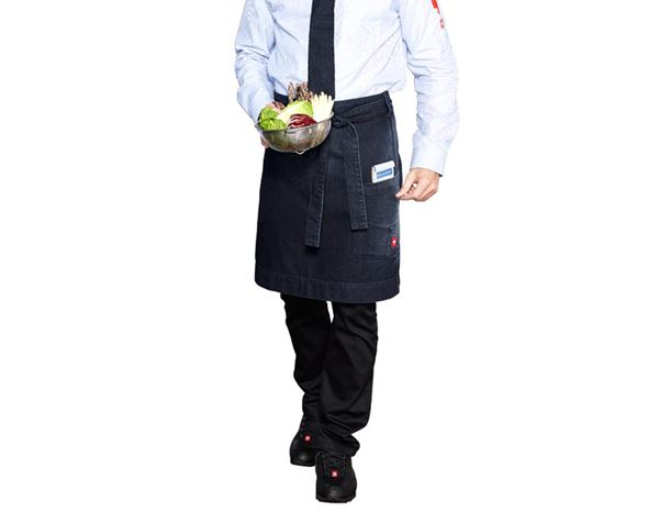 Catering Aprons: Mid-Length Apron denim e.s.fusion, men's + stonewashed