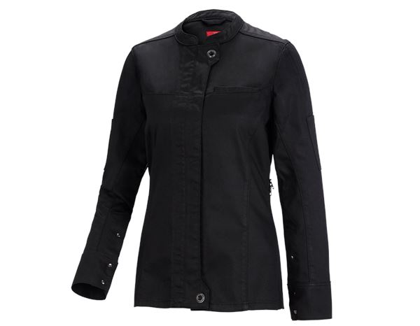 Shirts, Pullover & more: Work jacket long slee.denim raw e.s.fusion,ladies' + black