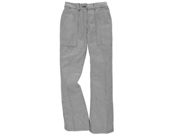 Work Trousers: Women's chef trousers + black/white
