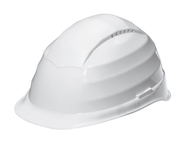 Hard Hats: Safety helmet, 6-point + white