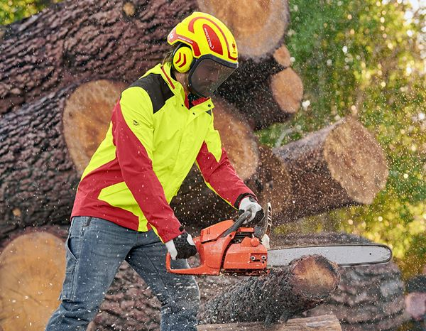 Hard Hats: e.s. Forestry helmet Protos® + high-vis yellow/fiery red 2