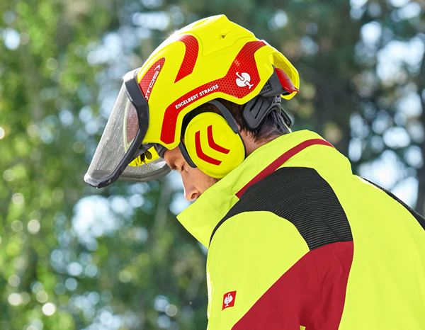 Hard Hats: e.s. Forestry helmet Protos® + high-vis yellow/fiery red 4