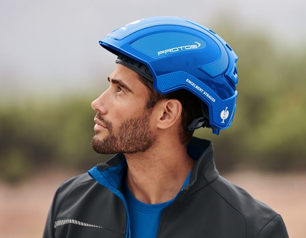 Hard Hats: e.s. Work helmet Protos® + blue/gentian blue 2