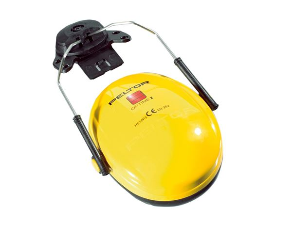 Ear Defenders: 3M Peltor Hearing protectors for helmet Optime I + yellow