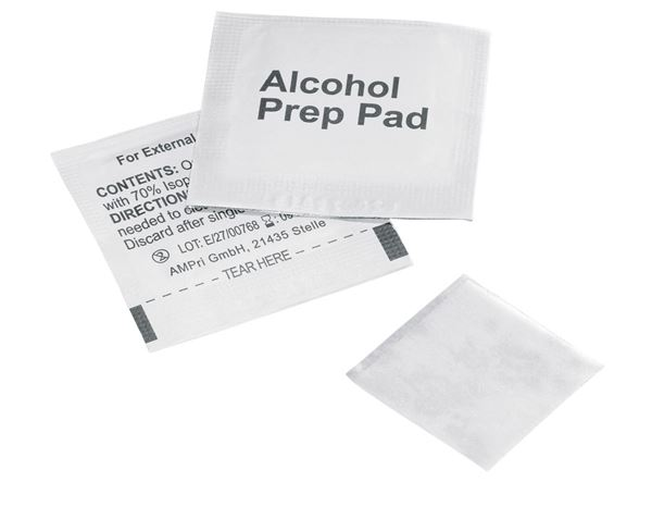 First Aid Supplies: Alkoholtupfer