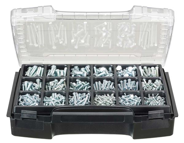 Assorted small parts: Hexagon bolts, DIN 933, 650 pieces