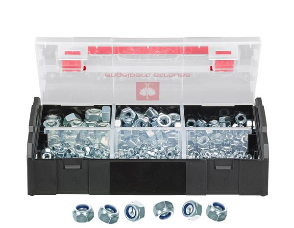 Screws: Hex locking nuts, DIN 985, 625 pieces