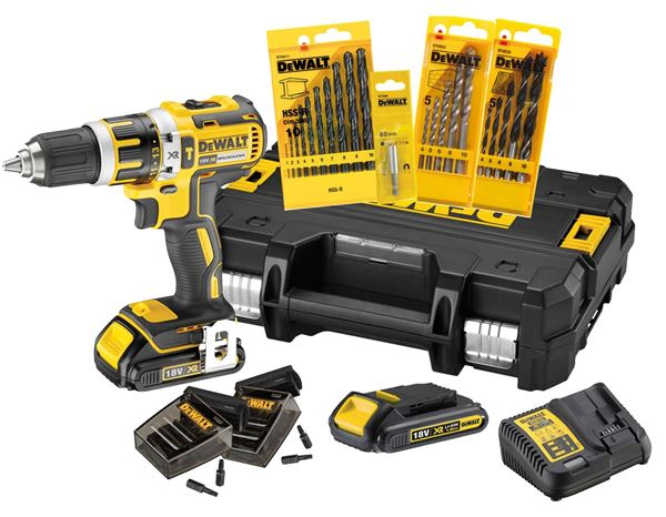 Electrical tools: 18 V Set batteryimpact screwdr.+71pcs