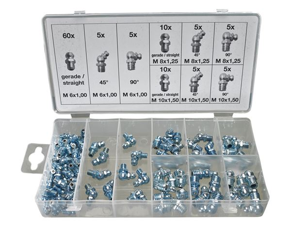 Assorted small parts: Grease nipple Assortment, 110 units