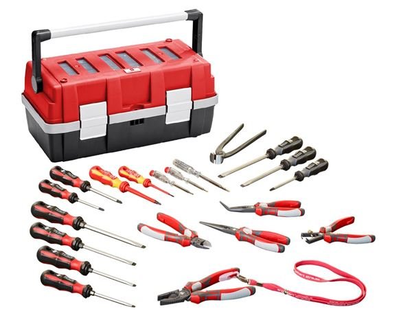 Tools & Equipment: Power pliers + professional screwdriver set
