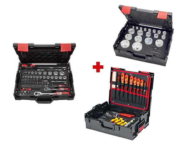 Tool Cases: e.s. Boxx socket wrench set Electro pro III 1
