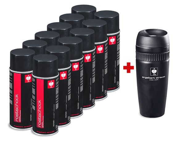 Sets: 12xRust-Shock Spray Set+free e.s. Insulated cup