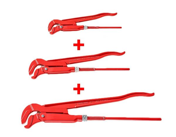Set: Elbow S-Shaped Wrench, 3 pieces